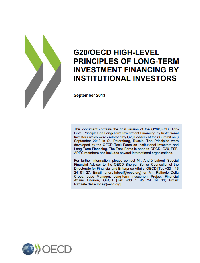 G20/OECD High-level Principles of Long-term Investment Financing by