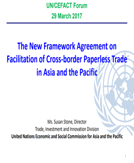 The new framework agreement on facilitation of cross border the new framework agreement on facilitation of cross border paperless trade in asia and the pacific global infrastructure connectivity alliance platinumwayz