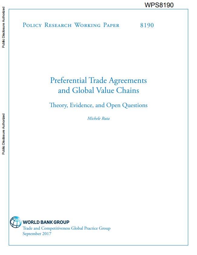 Preferential Trade Agreements And Global Value Chains Theory