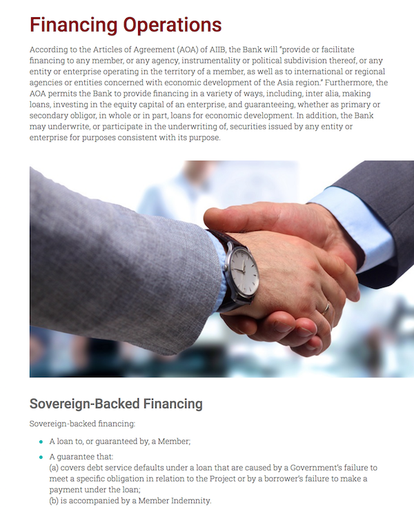 Sovereign Backed Financing Global Infrastructure Connectivity Alliance