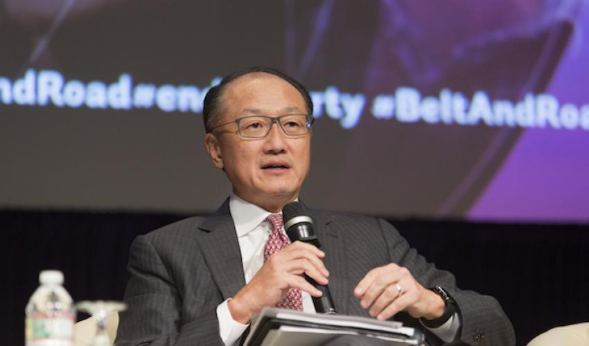 President Jim Yong Kim discusses the Belt and Road Initiative at the World Bank, April 2017.
